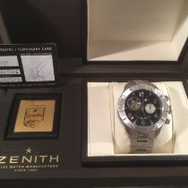Zenith Steel Automatic Black Arabic numerals 47mm pre-owned Defy El Primero