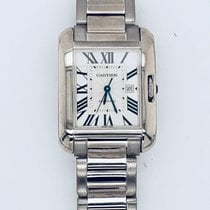 Cartier White gold Automatic Silver new Tank Anglaise