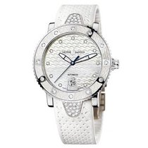Ulysse Nardin Lady Diver pre-owned 40mm Mother of pearl Date Rubber