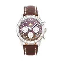 Breitling Navitimer 01 pre-owned 43mm Brown Chronograph Date Leather