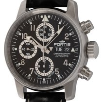 Fortis Flieger Steel 40mm Black Arabic numerals United States of America, Texas, Austin