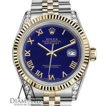 Rolex Lady-Datejust Gold/Steel 26mm Blue Roman numerals United States of America, New York, New York
