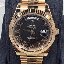 Rolex Day-Date II / President II Black Roman Dial