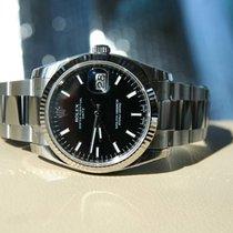 Rolex Oyster Perpetual Date Acier 34mm Noir Sans chiffres France, Thonon les bains