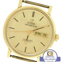 Omega RARE Vintage Omega DeVille Tiffany & Co. 14K Yellow Gold...