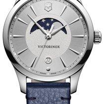 Victorinox Swiss Army Alliance 241832 Victorinox Alliance Blu Fasi Luna 35mm Donna Cinturino Pelle New Steel 35mm