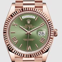 Rolex Day-Date 40 Green Roman Dial 228235