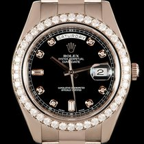 Rolex Day-Date II White gold 41mm Black No numerals