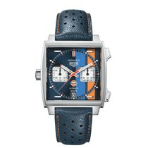 TAG Heuer Monaco Calibre 11 nuevo 2019 Automático Cronógrafo Reloj con estuche y documentos originales CAW211R.FC6401