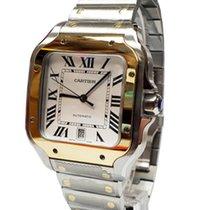 Cartier Santos (submodel) Золото/Cталь 40mm Cеребро Римские