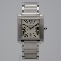 Cartier Tank Française tweedehands 28mm Staal