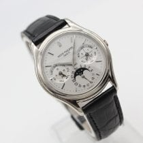 Patek Philippe pre-owned Automatic 36mm Silver Sapphire Glass