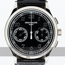 Patek Philippe Chronograph pre-owned 39.4mm Black Chronograph Leather