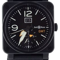 Bell & Ross BR 03-51 GMT pre-owned 42mm Black Date GMT Textile