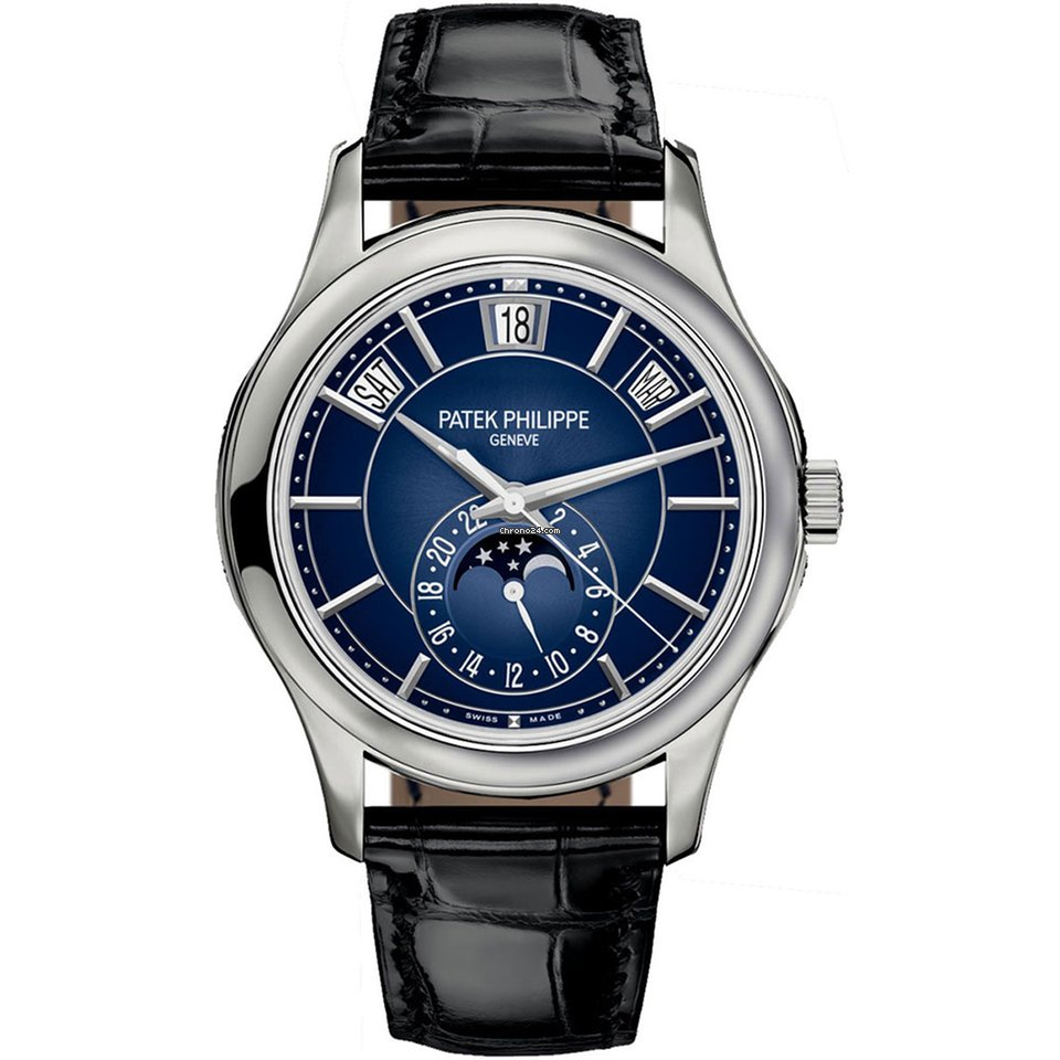 Patek Philippe 5205g 013 Complications Annual Calendar Moonphase White Gold