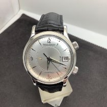 Jaeger-LeCoultre Master Memovox pre-owned 39mm Silver Date