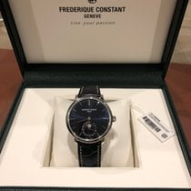 Frederique Constant Manufacture Slimline Moonphase pre-owned 42mm Blue Moon phase Date Crocodile skin