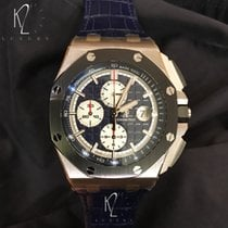 Audemars Piguet Royal Oak Offshore Chronograph Platine 44mm Bleu Sans chiffres