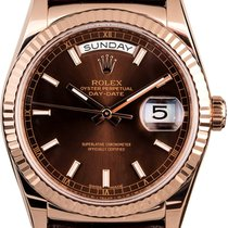 Rolex Day-Date 36 Rose gold 36mm Brown No numerals United States of America, New York, New York