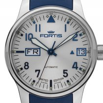 Fortis F-43 Flieger Big Day Date Stahl Automatik Armband...