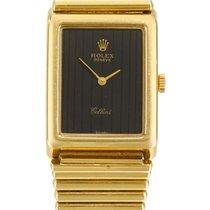 Rolex   A Yellow Gold Rectangular Wristwatch With Bracelet ...