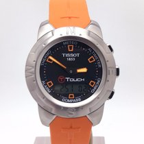 Tissot T Touch Ii Orange Strap T047.420.47.207.01 Titanium