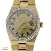 Rolex Day-Date 18K.Gold mit Brillanten & Saphire Ref.19048