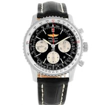Breitling Navitimer 01 pre-owned 43mm Black Leather
