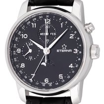 Eterna Chronograph 42mm Automatic pre-owned Soleure Black