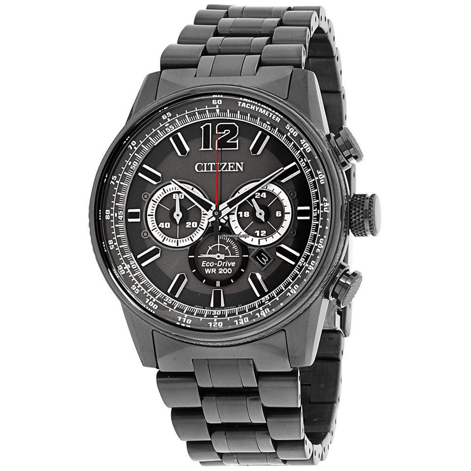 b46ae07a31c Citizen Nighthawk Grey Dial Stainless Steel Men s Watch... for  261 for  sale from a Seller on Chrono24