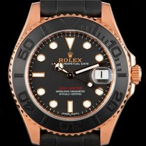 Rolex Yacht-Master 37 Or rose 37mm Noir