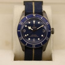 Tudor pre-owned Automatic 43mm Blue Sapphire Glass 20 ATM