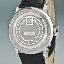 까르띠에 화이트골드 자동 은색 42mm 중고시계 로통드 드 까르띠에