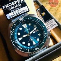 Seiko Prospex Acier 45mm Vert Sans chiffres