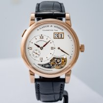 A. Lange & Söhne Lange 1 Rose gold 38.5mm Silver Roman numerals United States of America, Massachusetts, Boston