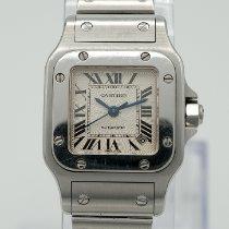 Cartier Santos Galbée Сталь 24mm Cеребро Римские