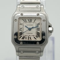 Cartier Santos Galbée Steel 24mm Silver Roman numerals
