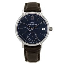 IWC Portofino Hand-Wound Steel 45mm Blue