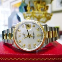 Rolex Oyster Perpetual Date 34mm Ref: 15223 Steel & Gold...