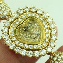 DeLaneau 18k Solid Yellow Gold Pave Diamond & Pearl Ladies...