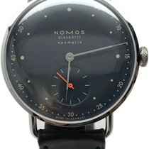 NOMOS Metro Neomatik pre-owned 8mm Blue Leather