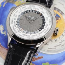 Patek Philippe World Time White gold 38.5mm Grey Arabic numerals United States of America, Texas, Houston