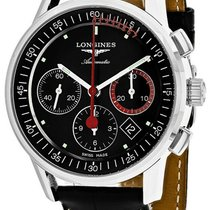 Longines Column-Wheel Chronograph Steel 41mm Black United States of America, New York, Monsey