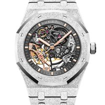 Audemars Piguet Royal Oak Double Balance Wheel Openworked Белое золото 41mm Прозрачный Без цифр