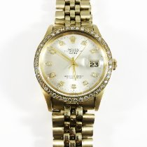 Rolex Oyster Perpetual Date Желтое золото 34mm Cеребро Без цифр