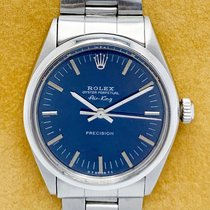 Rolex Air King Precision Steel 34mm Blue No numerals