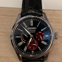 Seiko pre-owned Automatic 40.5mm Black Sapphire Glass 10 ATM