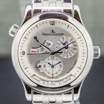 Jaeger-LeCoultre Master Geographic Steel 40mm Silver Arabic numerals United States of America, Massachusetts, Boston