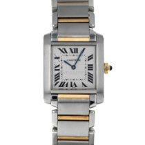 Cartier Tank Française Steel 25mm Silver Roman numerals United States of America, Maryland, Baltimore, MD