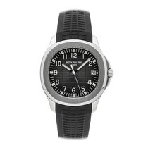 Patek Philippe Aquanaut pre-owned 40mm Black Date Rubber